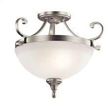 Monroe Collection Monroe 2 light Semi Flush NI