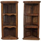 Old Wood Hand-Crafted Corner Bookcase Product Image