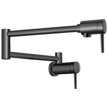 Matte Black Contemporary Wall Mount Pot Filler