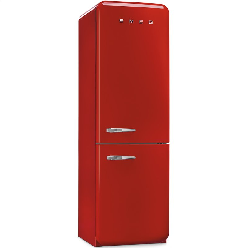 50 S Retro Style Refrigerator With Automatic Freezer Red Right Hand Hinge