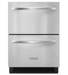 KitchenAid® 5.1 Cu. Ft. 24'' Double-Drawer Refrigerator Architect® Series II - Stainless Steel