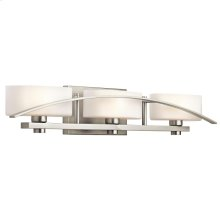 Suspension Collection Suspension 3 light Bath Light in Brushed Nickel