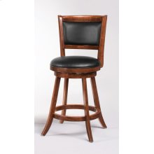 Transitional Chestnut Swivel Counter Stool