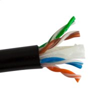 Cat6 Direct Burial- Enhanced 550 Mhz 23 Awg Solid Bc 4pr, Utp, Gel Type, Ansi/tia 568-C.2, Iec 11801 Class E, Lldpe Jkt- Black- 1000 Ft/305m Spool