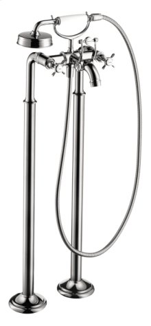 Chrome Montreux Freestanding 2-Handle Tub Filler Trim with Cross Handles