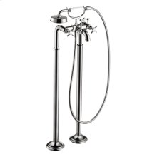 Chrome 2-handle bath mixer floor-standing 1.8 GPM