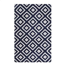 Alika Abstract Diamond Trellis 8x10 Area Rug in Ivory and Navy