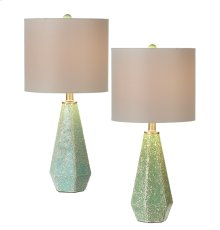 2 pc. ppk. Crushed Sea Glass Accent Lamp. 60W Max. (2 pc. ppk.)