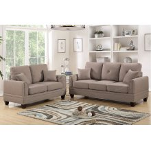 Coffee Sofa and Love Seat with Silver Nail Head Trim