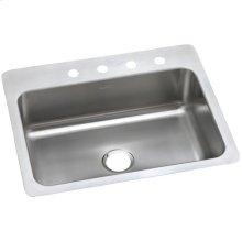 """Dayton Stainless Steel 27"""" x 22"""" x 8"""", Single Bowl Dual Mount Sink"""