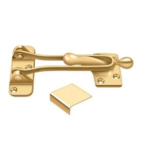 """5"""" Door Guard - PVD Polished Brass"""