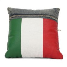 Cowboy Cushion Blue Denim W/ Italy Flag