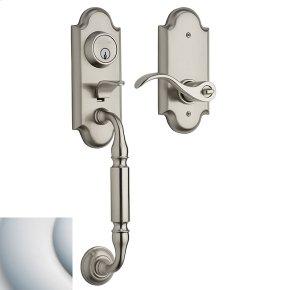 Satin Chrome Ashton Two-Point Lock Handleset