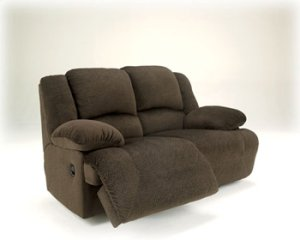 Toletta Reclining Power Loveseat - Chocolate Collection
