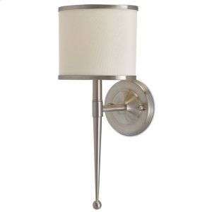 Primo Cream Nickel Wall Sconce