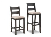 """Rafters 24"""" Counter Chair With Fabric/Bonded Leather Seat"""
