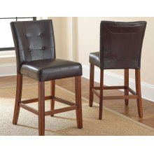 "Montibello Counter Chair Brown 19""x25""x40""[1/2"" memory foam]"