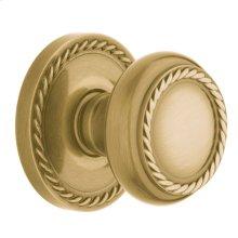 Satin Brass and Brown 5064 Estate Knob