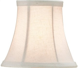 Bone Linen Shade, Small - 3 x 5 x 4.5
