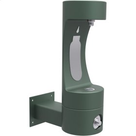 Elkay Outdoor ezH2O Bottle Filling Station Wall Mount, Non-Filtered Non-Refrigerated Freeze Resistant Evergreen