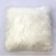 Fox faux fur pillow - White Rug