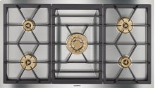 """Vario gas cooktop 400 series VG 491 210 CA Stainless steel Width 36"""" Equipped for natural gas."""