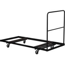Black Folding Table Dolly for 30''W x 72''D Rectangular Folding Tables