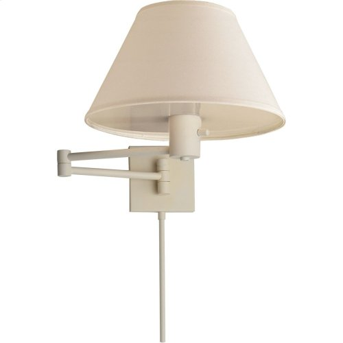 Visual Comfort 92000DWHT-L Studio Classic 25 inch 75 watt Plaster White Swing-Arm Wall Light in Linen