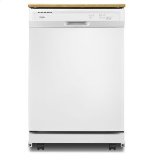 Heavy-Duty Dishwasher with 1-Hour Wash Cycle - WHITE