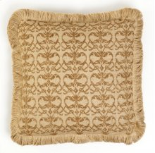 Brown Damask Burlap Pillow