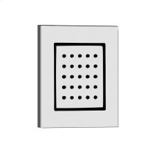 """TRIM PARTS ONLY Square in-wall pivotable body spray 1/2"""" connections Requires in-wall rough valve 32987 Max flow rate"""