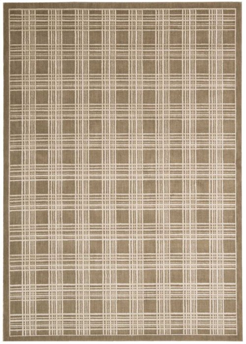 Hollywood Shimmer Ki102 Moc Rectangle Rug 5'3'' X 7'5''