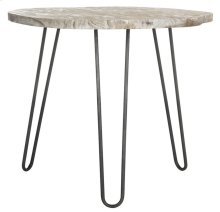Mindy Wood Top Dining Table - Natural