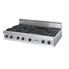 "Sea Glass 48"" Open Burner Rangetop - VGRT (48"" wide, six burners 12"" wide char-grill)"