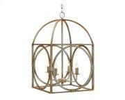 Rust Metal Birdcage Chandelier Product Image
