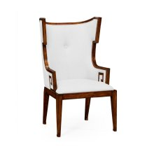 Greek Key Design Biedermeier Walnut Armchair - COM