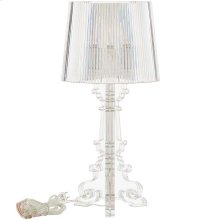 French Petite Acrylic Acrylic Table Lamp in Clear