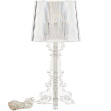 French Petite Acrylic Acrylic Table Lamp in Clear Product Image