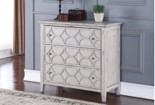 LUCIA 3 DRAWER CHEST-ANTIQUE WHITE