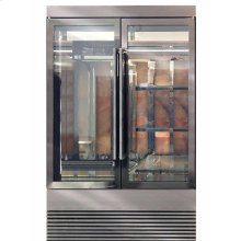 Meat Display Cabinet with Rose Salt in Mirrored Gunmetal