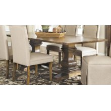 Parkins Rustic Amber Rectangular Dining Table