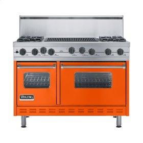 """Pumpkin 48"""" Sealed Burner Self-Cleaning Range - VGSC (48"""" wide, four burners & 24"""" wide char-grill)"""