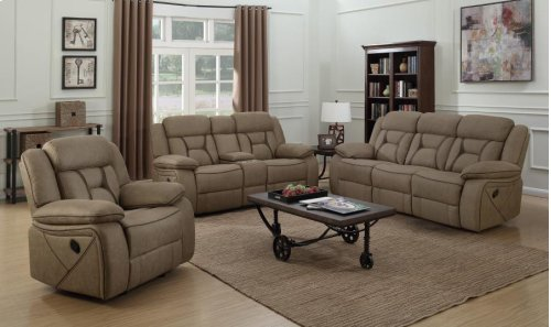 Motion Love Seat With Console