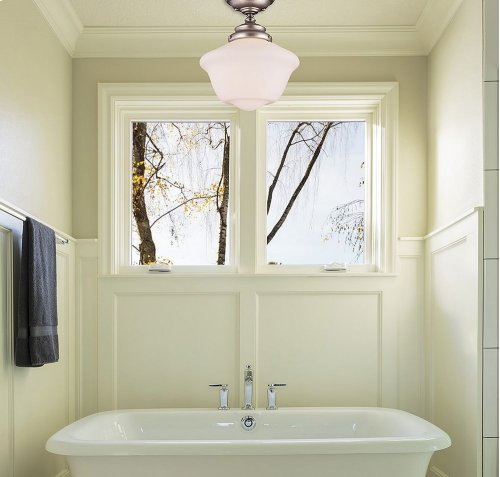 Classic Schoolhouse Design Semi-Flush