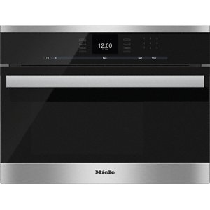 MieleDG 6600 Built-in steam oven with a large text display and SensorTronic controls for extra convenience.