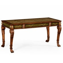 Italian Lions Paw Desk (Leather & Walnut)