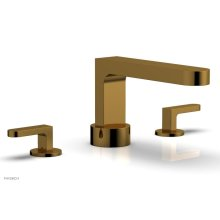 ROND Deck Tub Set - Lever Handles 183-41 - French Brass
