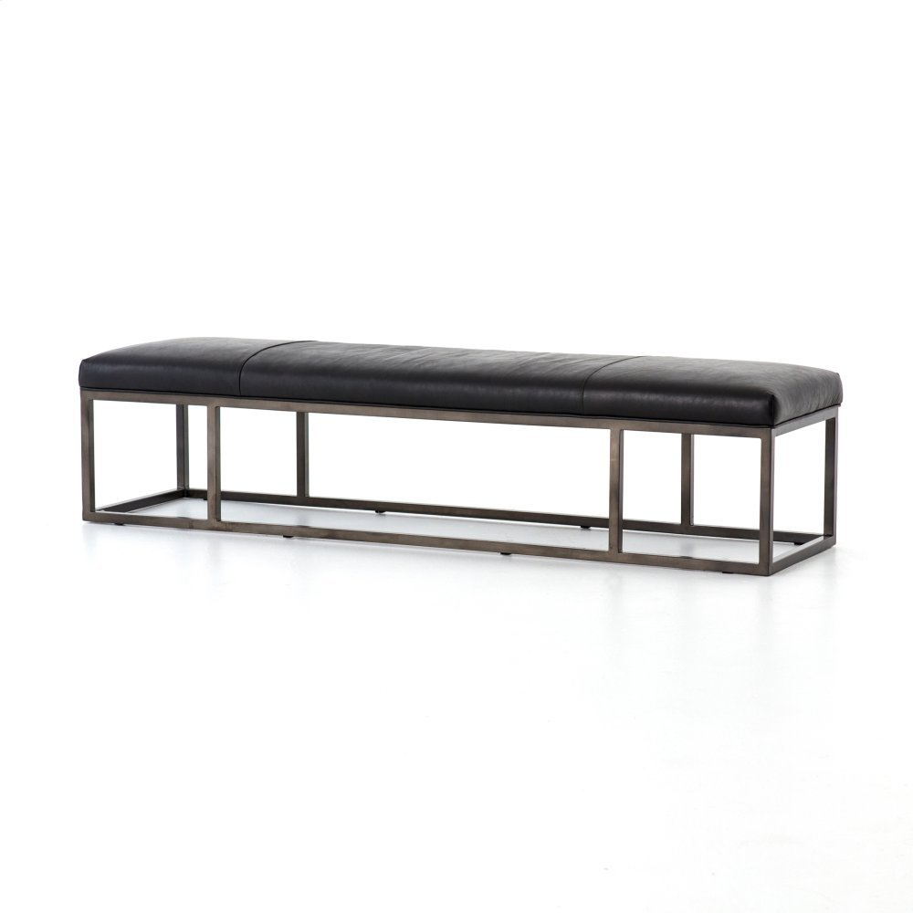 Rider Black Cover Beaumont Leather Bench