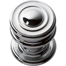 Campaign Round Knob 1 1/4 Inch - Polished Chrome