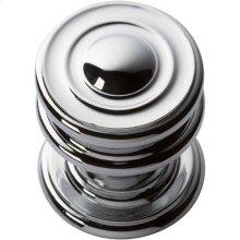 Campaign Round Knob 1 1/4 Inch - Polished Chrome